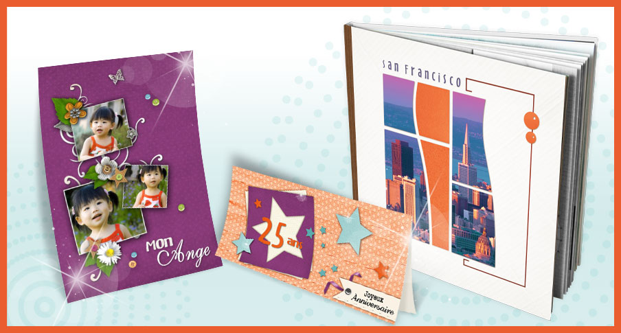 photo books, invitation cards, photo collages, table decorations, DVD and CD sleeves, Stickers and so on
